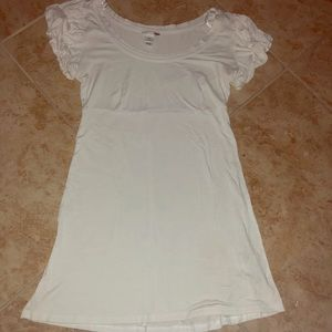 White long fit tee